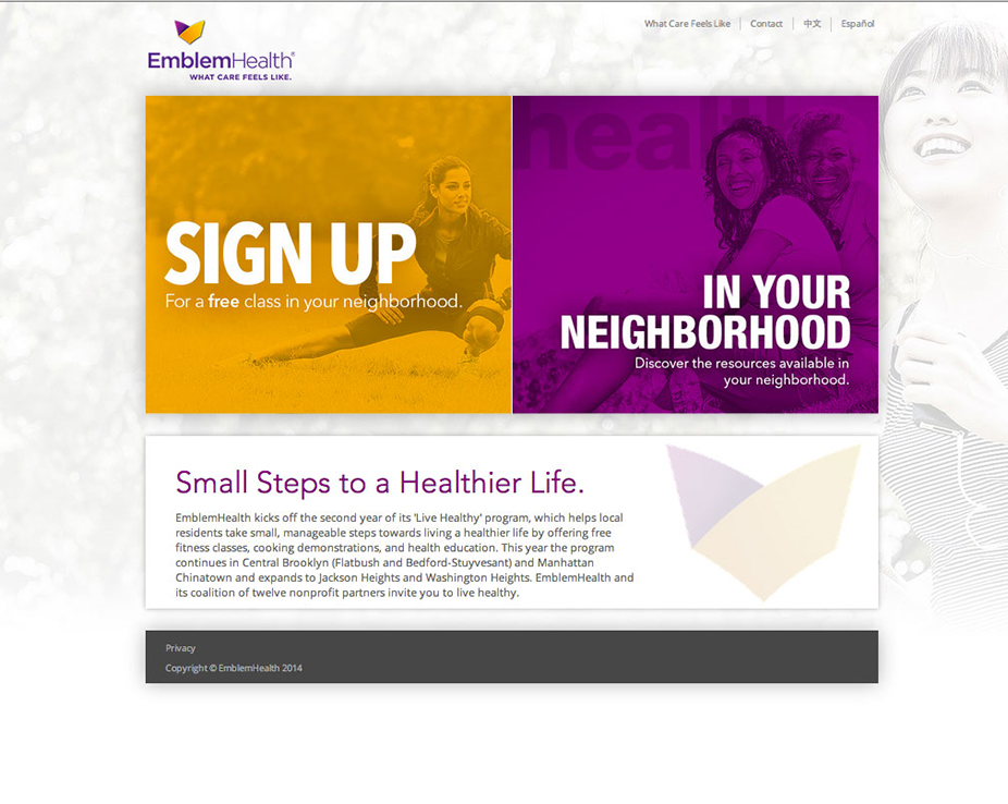 Emblem Health Micro Site